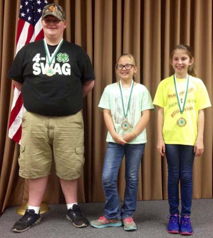 The Marengo County 4-H Shooting Sports BB gun team placed third in the state competition will compete in the Daisy National BB Gun Competition in Rogers, Ark. Shown are team members Will Yates, Jordan Sturdivant and Lizzie Cannon.