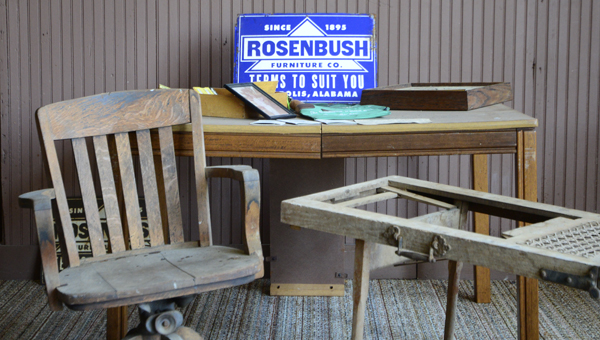 """Pieces of furniture from Rosenbush Furniture are part of the Smithsonian's """"The Way We Worked"""" exhibit that will be open April 6 through May 6 at the Marengo County History and Archives Museum."""
