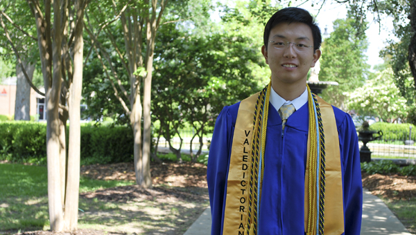 Jeremy Chu is Demopolis High School's valedictorian for the 2014-2015 school year. --Submitted Photo