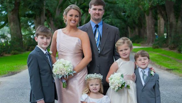New Demopolis Superintendent Kyle Kallhoff with his family: wife, Kristina, and children, Carson, 11; KaraLynn, 8; John Curtis, 5; and Anna Claire, 3. The family is preparing for their move to Demopolis.