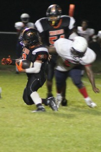 Alphonzo Lewis helped lead the Marengo Panthers to a region victory against Chickasaw Friday night by scoring the go-ahead touchdown late in the fourth quarter.