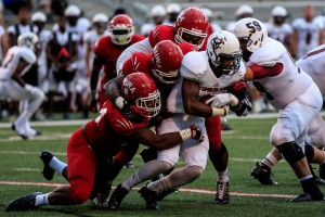 West Alabama used a strong defensive team effort to hold Cumberland to just 10 rushing yards. (Photo by Joe R. Chance)
