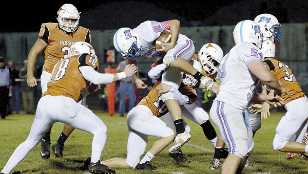 It was a team effort for the Longhorn defense as Marengo Academy did a great job of holding down the Pickens Academy offense and held the Pirates to under 140 yards of total offense.