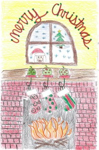 Artwork by DMS students is featured on the DCSF's Christmas cards.