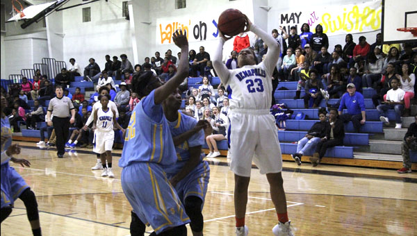 Ivery Moore didn't lead in scoring, but had the most crucial point with in a free throw in the victory over Selma.