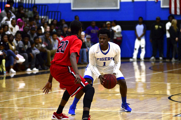 Xavier McCann weighs his options on offense against Sumter Central.