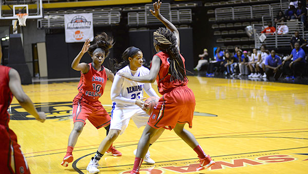 Foul trouble and tough defense never allowed Demopolis to get going.  Ivery Moore did finish as the Lady Tigers scoring leader with 19 points.