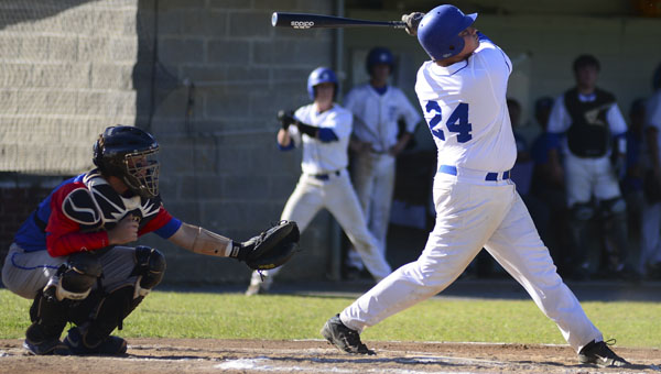Jacob Rodrigues belted his first home run of the season of the centerfield wall during Thursday's loss against the American Christian Academy Patriots.