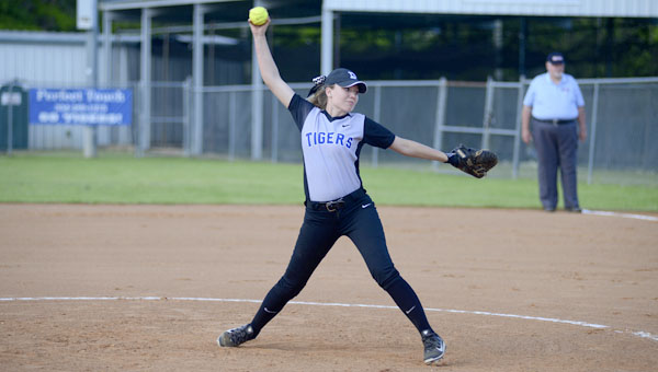 Kayla Montz struck out every batter she faced and pitched a perfect game against Wilcox Central.