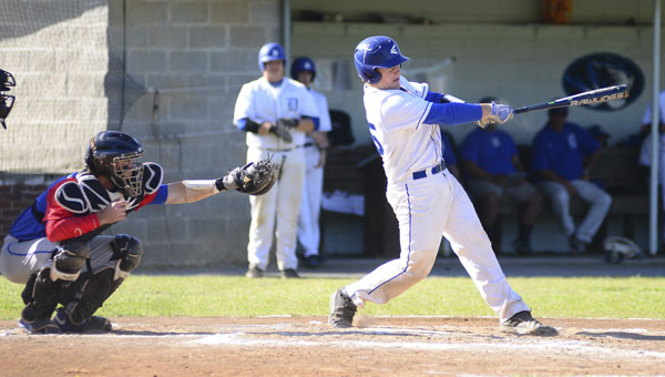 R.J. Cox finished 3 for 4 and drove in two runs on the road against Sweet Water. Cox is tied for the team lead in RBIs with 17 on the season.