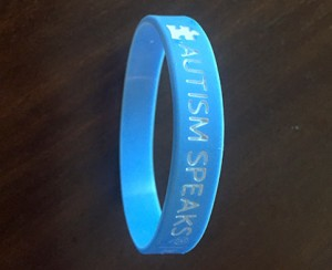 These special bracelets are currently for sell at the school offices for $2. Funds raised will go to autism-related causes.