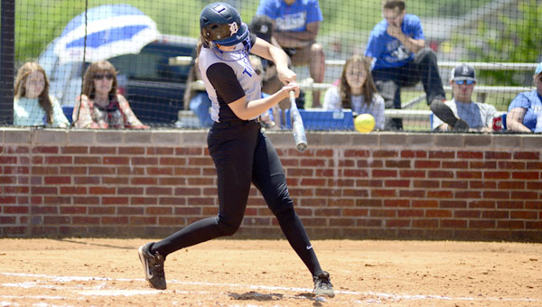 Abbey Latham finished with two homeruns and 6 RBI in two games versus Dallas County in the 5A Area 6 Tournament.