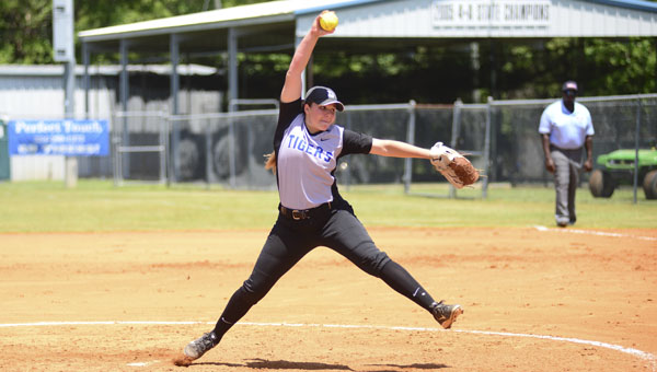Natalie Tatum pitched over 26 innings during the Lady Tigers 5A South Central Regional tournament run.