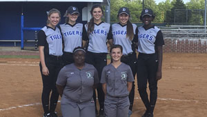 Kayla Montz, Courtney Smith, Abbey Latham, Natalie Tatum and Bria Brown were named to the 5A Area 6 team and are joined by Dallas County representatives Yasmeen Fletcher and Tori Hatfield.