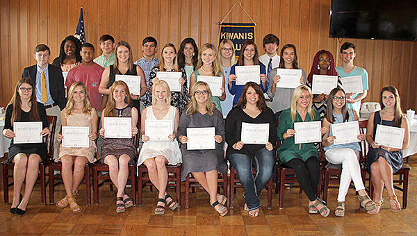 The Demopolis Kiwanis Club inducted 27 Demopolis High School students into its student organization, Key Club, during a special ceremony held Tuesday, April 26, at the Demopolis Country Club.