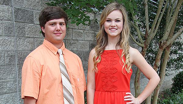Demopolis High School's Class of 2016 Valedictorian Shoni Jones and Salutatorian Logan Etheridge.