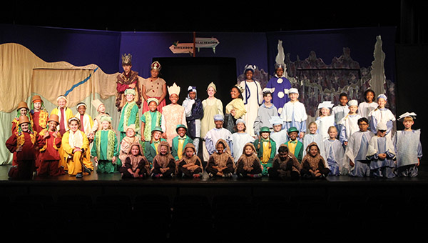 """The cast of Missoula Children's Theatre's presentation of """"The Princess and the Pea,"""" performed on Friday, July 1."""