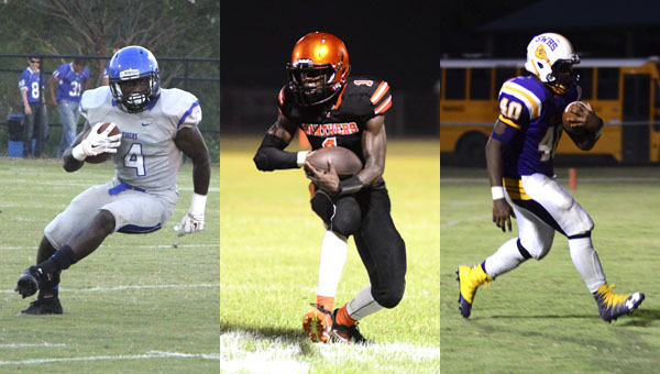 A.J. Jackson of the Demopolis Tigers, Cordarius Pritchett of the Marengo Panthers and Jacory Brown of the Sweet Water Bulldogs look to play big roles in key region battles this week.