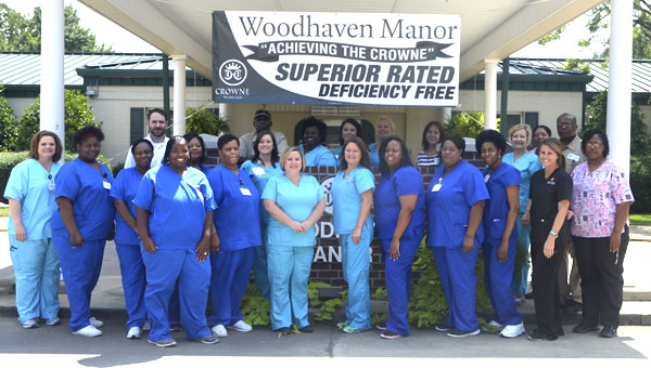 """The staff at Woodhaven Manor in Demopolis is celebrating after receiving a """"deficiency free"""" rating following an inspection by the Alabama Department of Public Health's Licensing and Certification Division."""