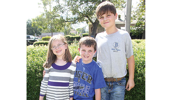Jacob Saelens, 10, was diagnosed with Post-Transplant Lymphoproliferative Disorder after having a heart transplant in 2015. Jacob (center) is pictured above with his sister, Annaleigh, and brother Matthew. He is a fifth grader at U.S. Jones Elementary School in Demopolis.