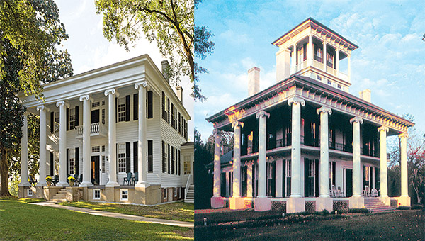 The Greene County Pilgrimmage event planned for Oct. 8 and 9 will feature the famous antebellum homes, Thornhill, right, and Kirkwood, left.