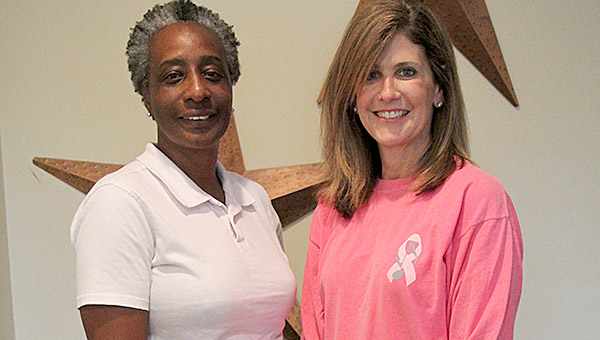 """Doris Stephens of the American Cancer Society, left, and Jill Tutt have organized a special listening party for Tutt's album, """"A Christmas of Peace."""" All money raised through the purchase of CDs or other merchandise will be split between the Shirley Dixon Breast Cancer Foundation and Marengo County Relay for Life's 2017 fundraising campaign. The event will be held Tuesday, Nov. 1, 5-7 p.m. at Cornerstone Church in Linden and is described as a casusal, come-and-go event."""