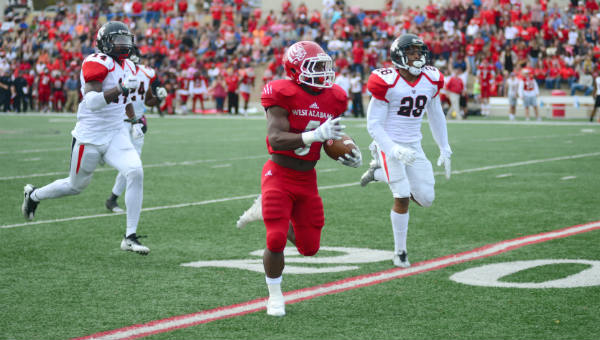 Rashaad Lee broke free for a 61-yard touchdown against Valdosta State.
