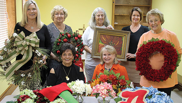 The First United Methodist Women's Bazaar will be held at the Demopolis church on Wednesday, Nov. 9, from 10 a.m. to 3 p.m. The event also features a dine-in or carry-out lunch plates from 11 a.m. to 1 p.m. Pictured above with just a small sampling of items that will be available are, from left, (seated) Peppi Cowart, Sheron Laney; (standing) Martha Sampson, Cheryl Newell, Linda McGillivray, Catherine Meador, and Barbara Hill.