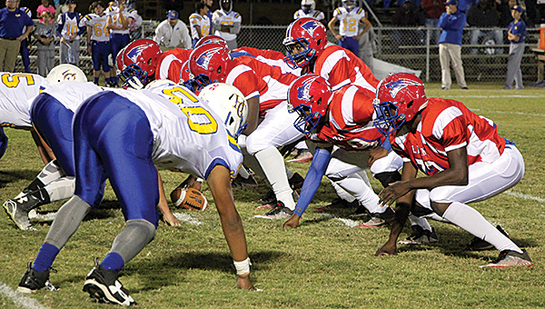 The Linden Patriot offense dominated Houston County, collecting 599 total yards. Quarterback Christopher Robinson passed for 201 yards and three touchdowns. The running game collected 398 total yards.