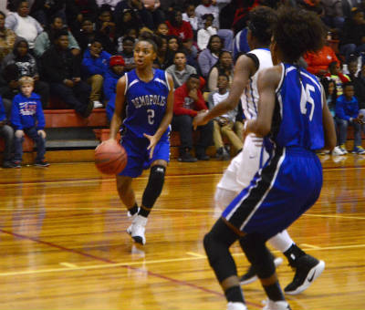 Aniya Johnson led all scorers with 16 points in the Lady Tigers come from behind effort to beat Linden 35-28